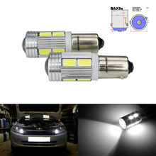 ANGRONG 10X BAX9s 64132 H6W 10 SMD 5630 LED Error Gratis Led Wedge Parkeerplaats Indicator Reverse DRL Licht lamp