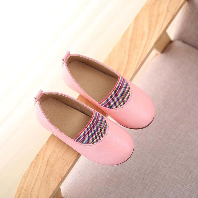 2017 Autumn Girls Child Leather Shoes Kids Baby Fashion Princess Shoes Soft Leather Outsole Spring Flat Shoes