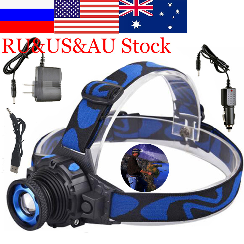 E Wodoodporne reflektory Head Lights Fishing Tail Lights Czołówka Head Headlights Torch Hunting Head Fishing Mining Lights Lamp