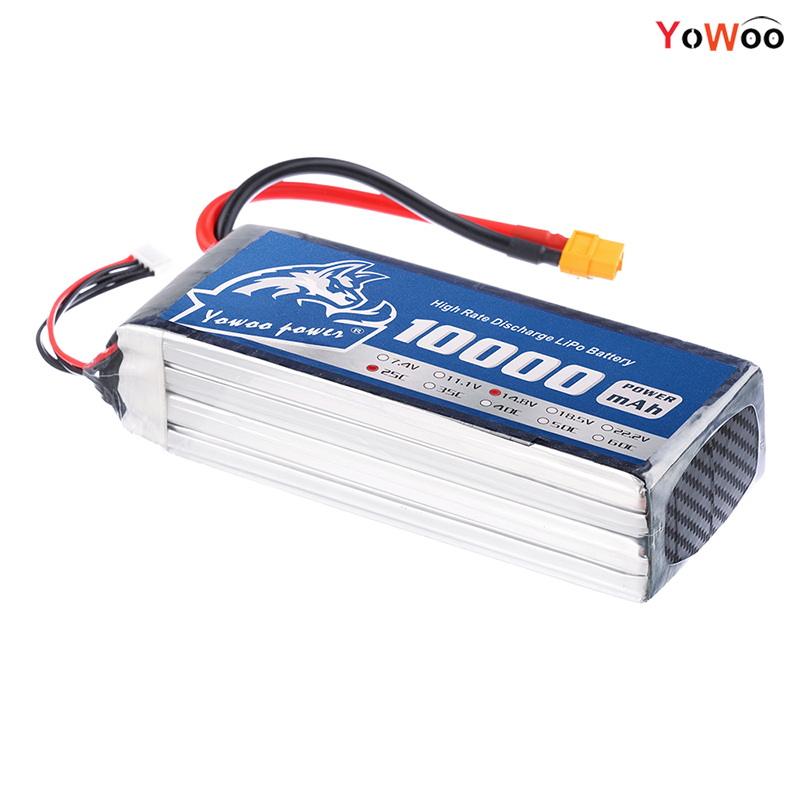 YOWOO RC LiPo 4s Battery 14.8V 10000mAh 25C 50C Drone AKKU For UAV Helicopter Multi-rotor Quadcopter Airplane Boat Car