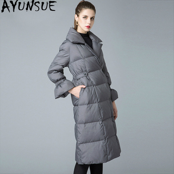 90% White Duck Down Jacket Women Winter Coat 2019 Long Thick Puffer Jacket Korean Winter Jackets for Women 8841211 KJ2629