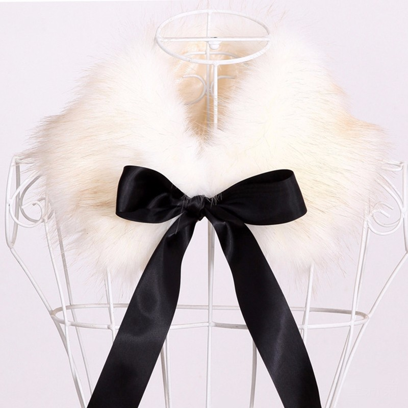 Faux Fur Bow Collar Scarf | Neck Scarves