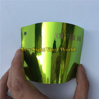 High Quality Stretchable Lime Green Chrome Car Vinyl Wrap Film For Car Decal Air Bubble Free