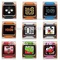 Comercio al por mayor 4 unids correa para la muñeca venda de reloj para ipod nano 6 case para cubrir Con El Paquete Al Por Menor 9 colores para nano6 ipod nano6 case