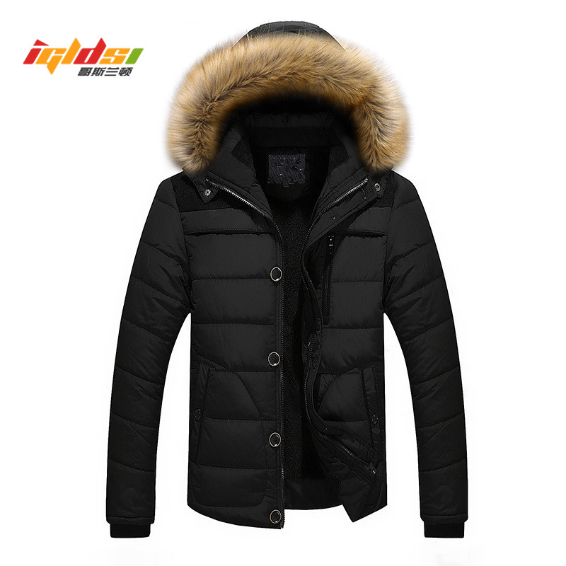 New 2018 Men Winter Jacket and Coat Brand Casual Fur Hooded Jackets Warm Fleece Down   Parkas   Male Fashion Thick Outwear Coats 5XL