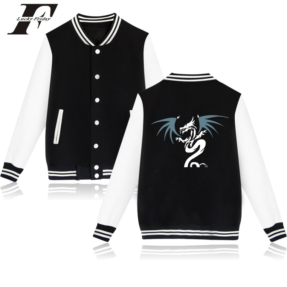 2017 Angry Dragon Baseball Jacket bomber jacket men women tracksuit moletom feminino Female Winter Jacket and coat Plus Size