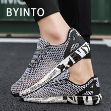 2019 Summer Hot Trendy Tennis Shoes for Men Outdoor Hollow Mesh Breathable Male Sneakers Gym Leisure Sport Shoes Tenis Masculino(China)