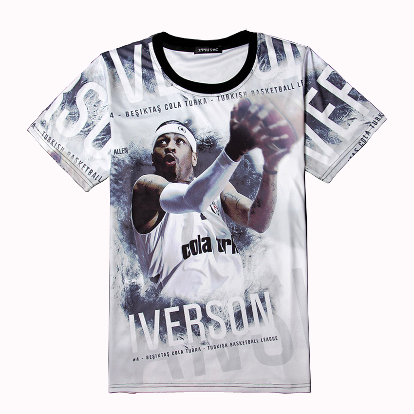 T Shirt Kyrie Irving Jersey Steph Curry 3d Print Basketball