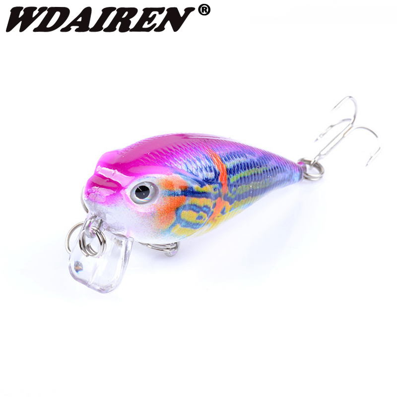 1Pcs 5.5cm 9g Crank wobblers Fishing Lures Swim სატყუარა Fishing Bass japan Hard Crazy Crankbait Tackle Top წყლის სიღრმე 0.5M WD-388