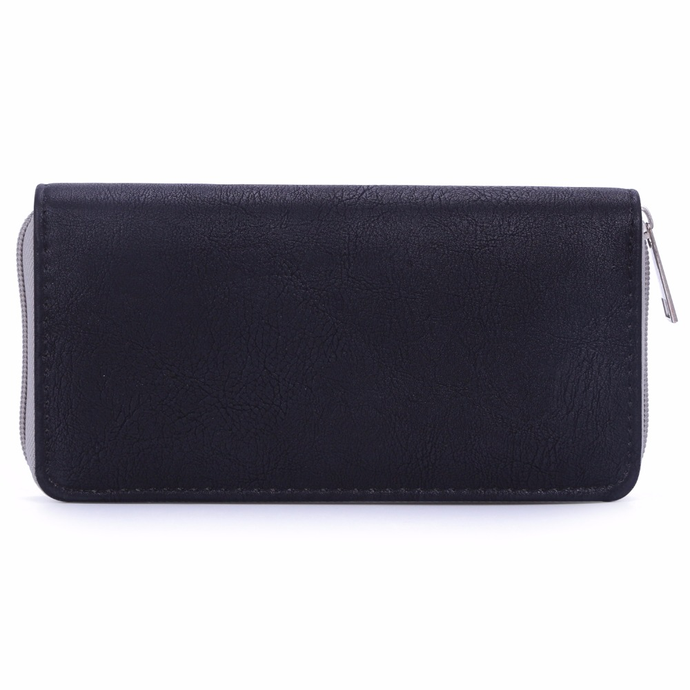 DAVIDJONES Long Women Wallets Patchwork Bags 2018 Wallet Women Zipper Clutch Bag Brand Coin Pocket Female Purse Feminina Bolsa