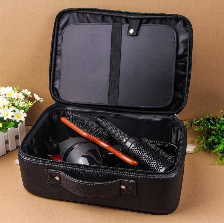 Купить с кэшбэком Hairdresser Barber Scissor Bag Salon Hairdressing Holster Pouch Case Professional PU Leather Barber Bag Holder Styling Tools