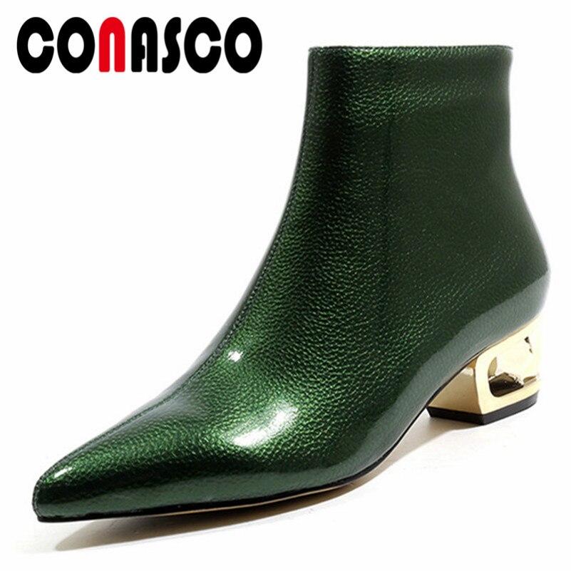 Bombas Verde De Tacones Zapatos Invierno Nuevos Calidad Alta Básicas w57a7qZCW