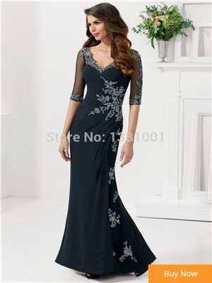 Saia-Social-Half-Sleeve-Brides-Mother-Dresses-For-Weddings-2015-New-Arrival-Elegant-Godmother-Party-Dress