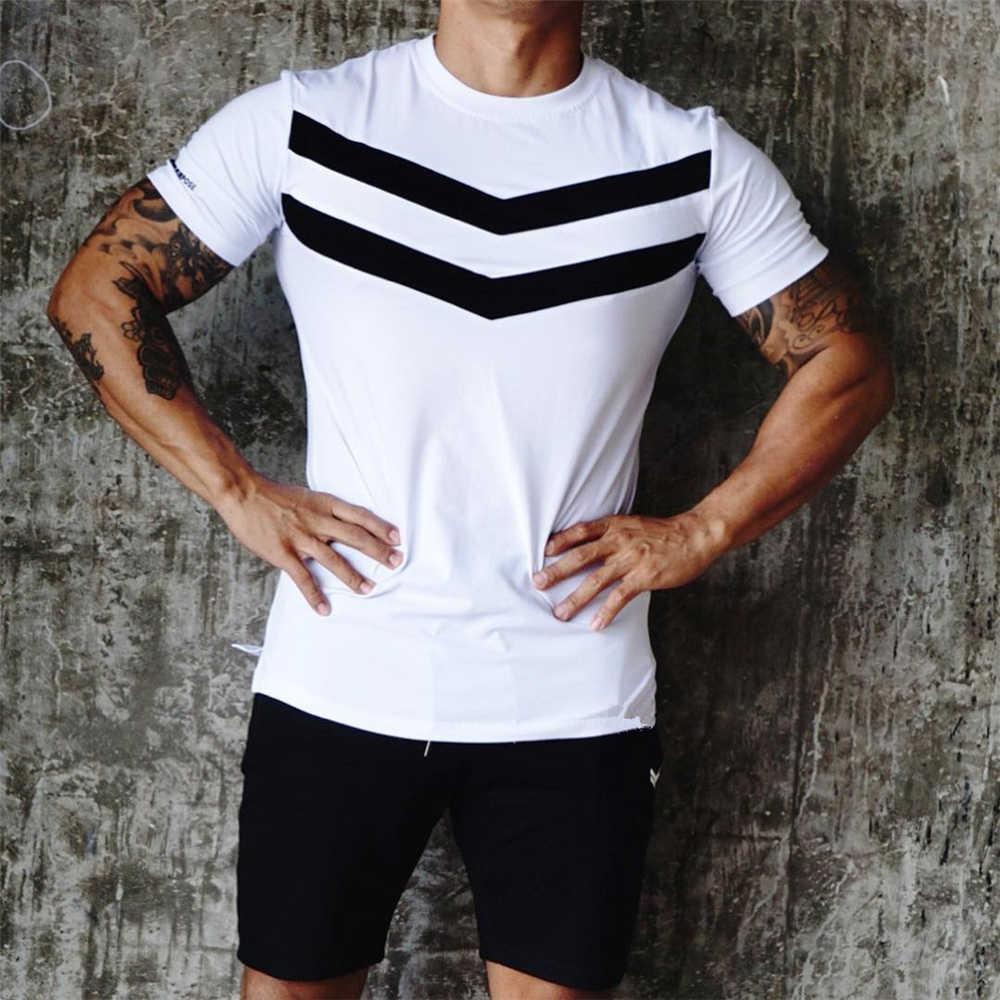 ¡Novedad! camiseta negra de manga corta de algodón para hombre, camiseta a rayas de color liso para hombre, ropa de verano de marca para hombre, camiseta masculina