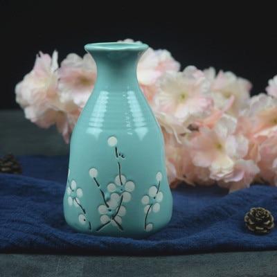 Японский ликер горшок Ретро керамика теплые емкость для ликера дистрибьютор бытовой маленькие белые вина флакон китайский barware Сакура - Цвет: 15