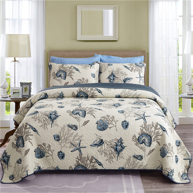 Luxury 100% Cotton Printing Bedspread Bed Cover Bed Sheet Bed Linen Summer Quilt Blanket Tatami Mat Pillowcases 230X250cm 3pcs|Bedspread| |  - title=
