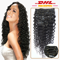 Brazilian Virgin Hair Clip ins Deep Wave Curly Hair Weave Websites African American Clip in Human Hair Extensions 120g/set