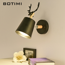 BOTIMI Modern LED Wall Lamp White Wall Light For Bedside Black Metal Wall Sconce  Bedroom Light Indoor Luminaire botimi led wall lamp for bedroom rectangle reading wall sconce applique murale luminaire modern mirror light bedside lighting