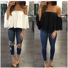 Fashion Women Summer Lace Vest Casual Blouse Tops Black White Blue Costume Size Solid
