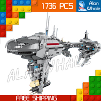 1736pcs Star Wars Ships MOC 05083 Nebulon B Class Escort Medical Frigate Building Blocks Bricks Gifts