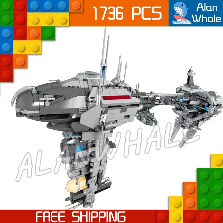 цены 1736pcs Space Wars Ships MOC 05083 Nebulon-B Class Escort Medical Frigate Building Blocks Bricks Gifts Toys Compatible With Lego