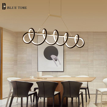 Black&White Modern LED Pendant Light For Living Room Dining room Kitchen Ceiling Mounted Lamp Led Pendant lamp Hanging Lamp Home artpad nordic multi color ceiling pendant lamp two three heads e27 metal lamp shade led dining room modern pendant light fixture