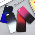 Moda slim gradiente colorido case para iphone 6 6 s plus telefone casos 4.7/5.5 Fosco Protetor Rígido PC Back Cover Capa Coque NOVO