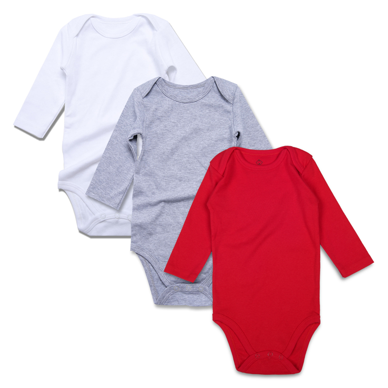 10.solid baby bodysuits WH-GY-RE