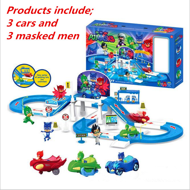 ФОТО Cartoon pj masks party Command Center car parking car characters catboy owlette gekko cloak masks action figure toys vinyl doll