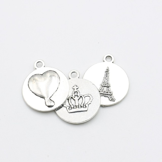 Tibetan silver plated heart eiffel tower crown frame charms pendants tibetan silver plated heart eiffel tower crown frame charms pendants bracelet necklace jewelry making accessories diy mozeypictures Gallery