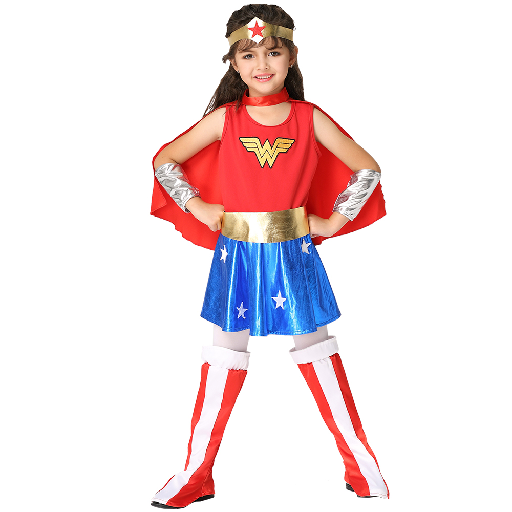 Disfraces Infantiles Halloween Costumes For Kids Girls 2017 Wonder Woman Cosplay -3803