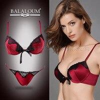 New BALALOUM Brand Luxury Palace Embroidery Bra Briefs Set Women Underwear Sexy Lace Push Up Bra