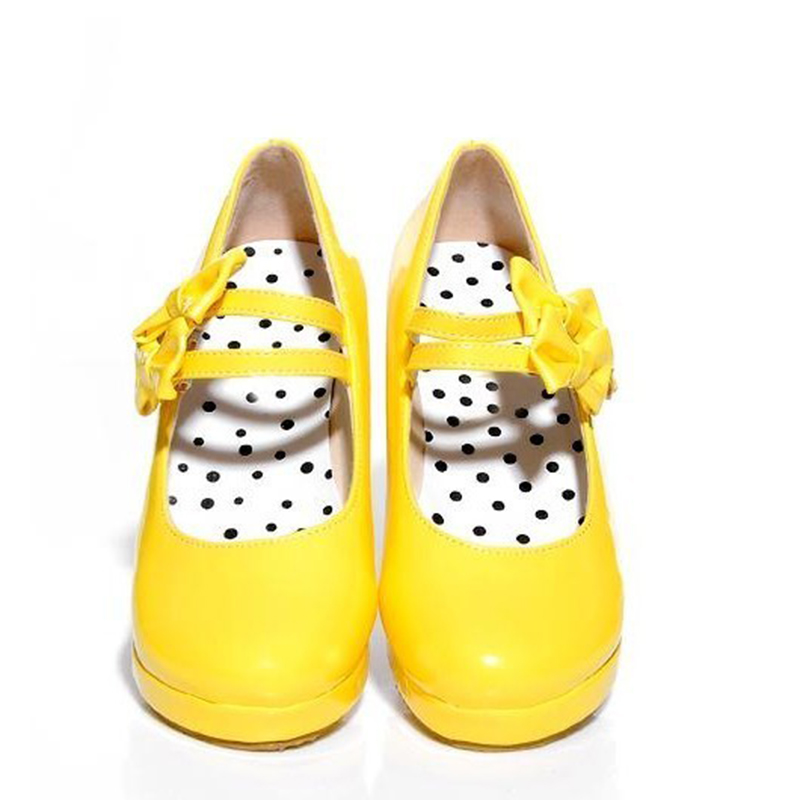 Popular Yellow Bow Heels-Buy Cheap Yellow Bow Heels lots from