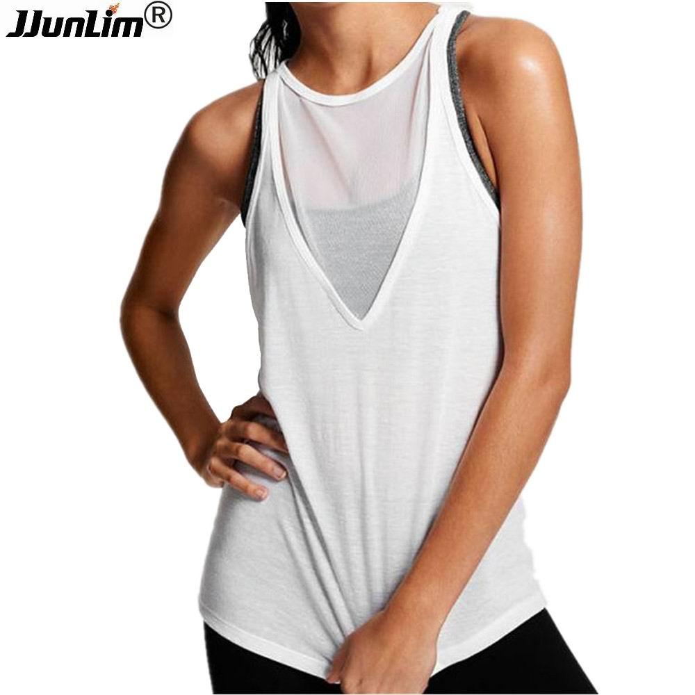 Women Yoga T Shirt Yoga Top Female Sleeveless Yoga Tank