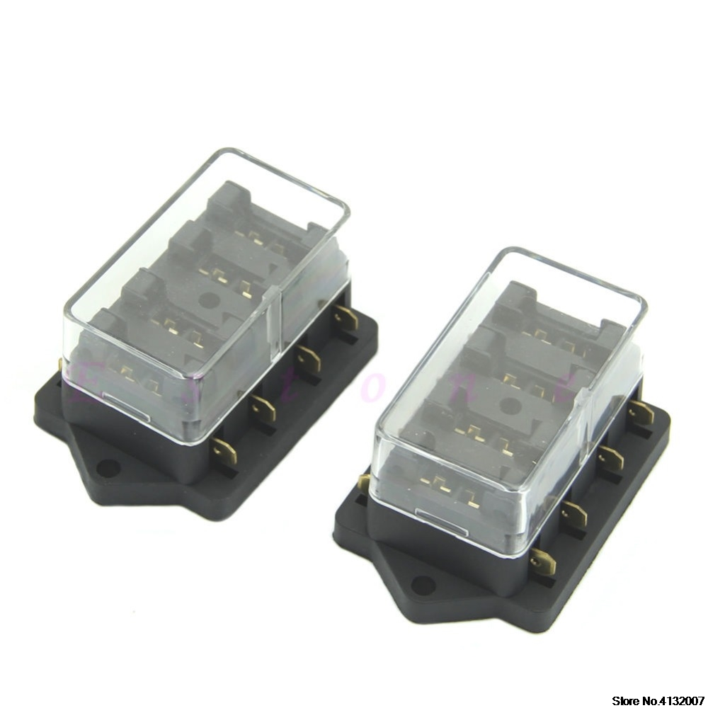 hight resolution of new 4 way car vehicle circuit blade fuse box holder standard block holder 828 promotion