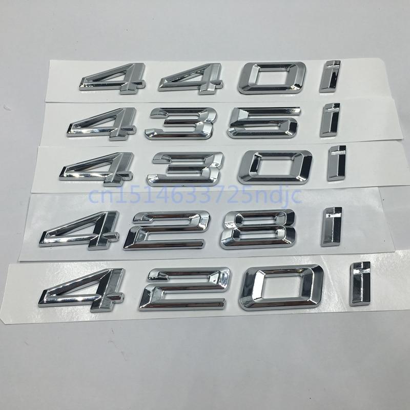 For BMW 4 series 420i 428i 430i 435i 440i Emblem Badge Decal Rear Trunk Lid Word Number Letters Sticker F32 F33 F36 emblem