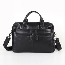 Nesitu High Quality Black / Coffee Briefcase Portfolio Real Skin Genuine Leather Men Messenger Bags #M7122