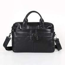 Maxdo High Quality Black / Coffee Briefcase Portfolio Real Skin Genuine Leather Men Messenger Bags #M7122