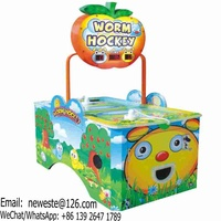 Coin Operated Fruit Worm Air Hockey Table Amusement Arcade Game Machine
