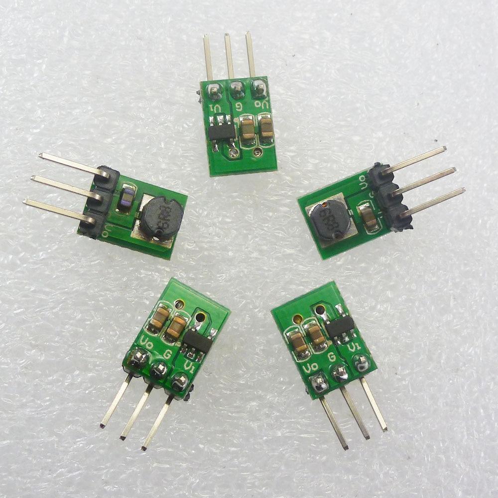 5 шт. DD0503MA ультракомпактный понижающий преобразователь постоянного тока 3,7 в 4,5 в 5 В до 3,3 В постоянного тока понижающий модуль для 18650 ESP8266 ...