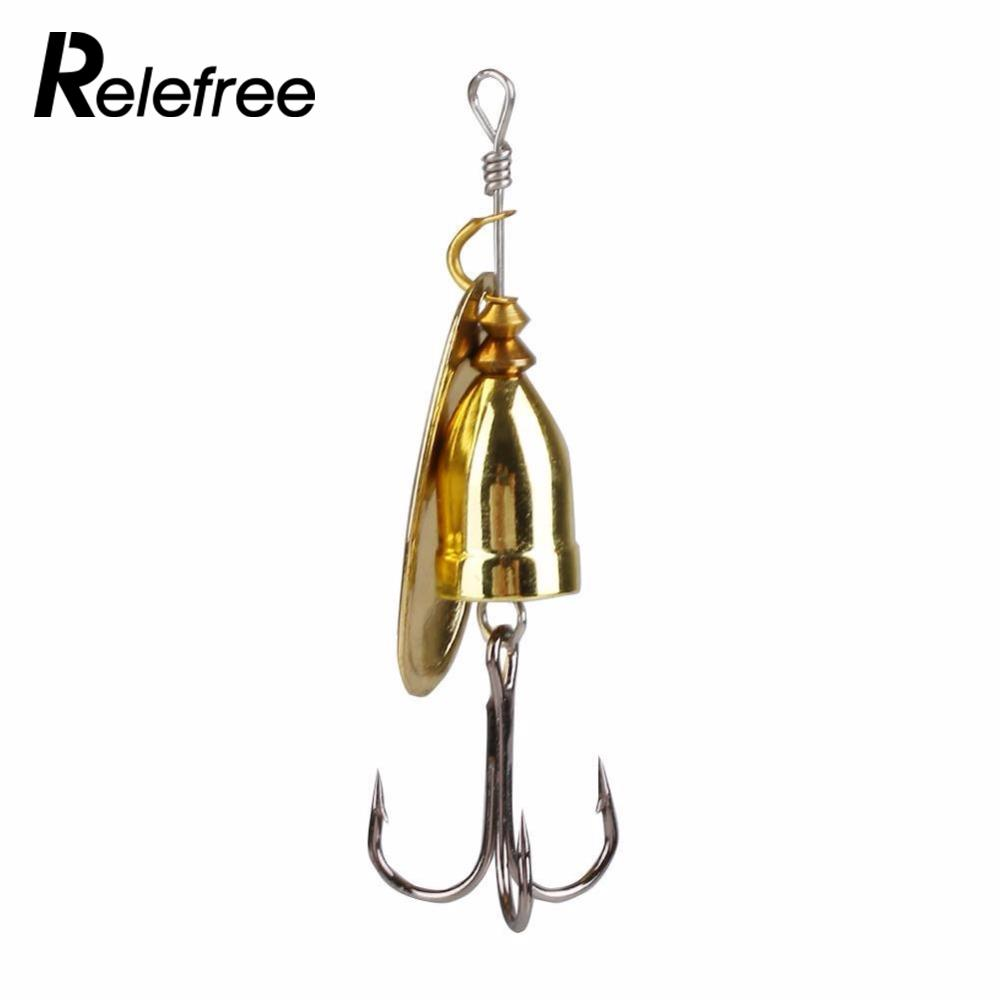 Relefree hot sale metal spinner spoon hard bait fish for Fishing tackle sale