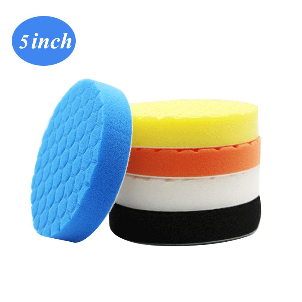 Image 5 - 5PCS/Set3/4/5/9/7inch Buffing Pad Car Polishing Pad Foam For Car Polisher Buffer Car Cleaner Tools-in Sponges, Cloths & Brushes from Automobiles & Motorcycles