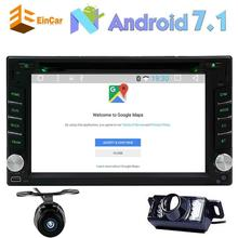 Eincar Android 7.1 2DIN car DVD player audio and touch screen support Bluetooth /WIFI/OBD2/GPS camera multimedia radio navigator
