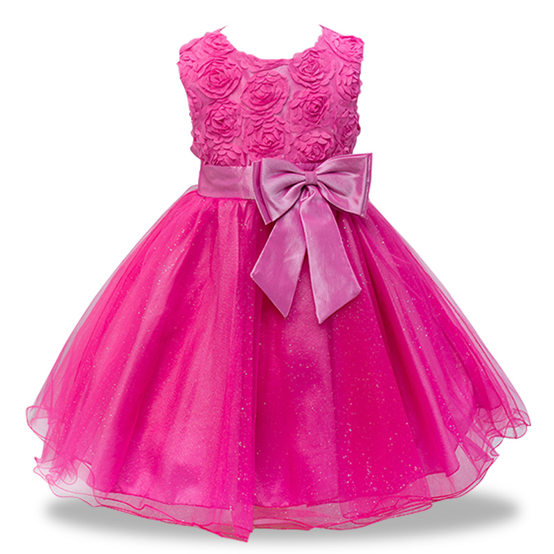 Sequin Girl Baptism Dress 2018 New Sleeveless tutu Big bow Kid Dresses Girls Clothes Party Princess Vestidos 1-12 year birthday new high quality fashion excellent girl party dress with big lace bow color purple princess dresses for wedding and birthday