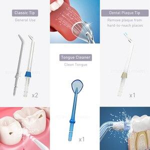 Image 5 - Waterpulse V400 240ml Portable sans fil eau Flosser Oral irrigateur électrique Irrigation orale irrigateurs 4 conseils dentaire Flosser