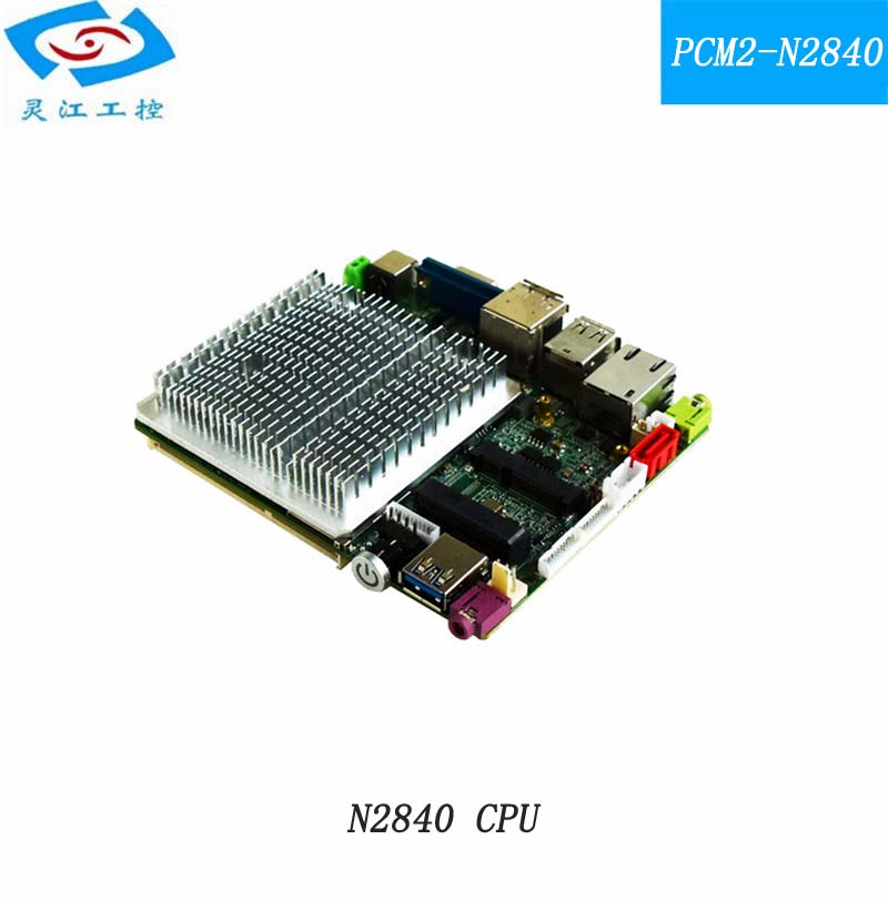 1*VGA 1*HDMI 1*DP with N2840 CPU FANLESS mini embedded industrial motherboard