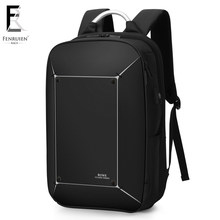 FRN Multifunction USB Charging Men 17 inch Laptop Backpack Waterproof High Capacity Mochila Antitheft Casual Travel Backpack Bag(China)