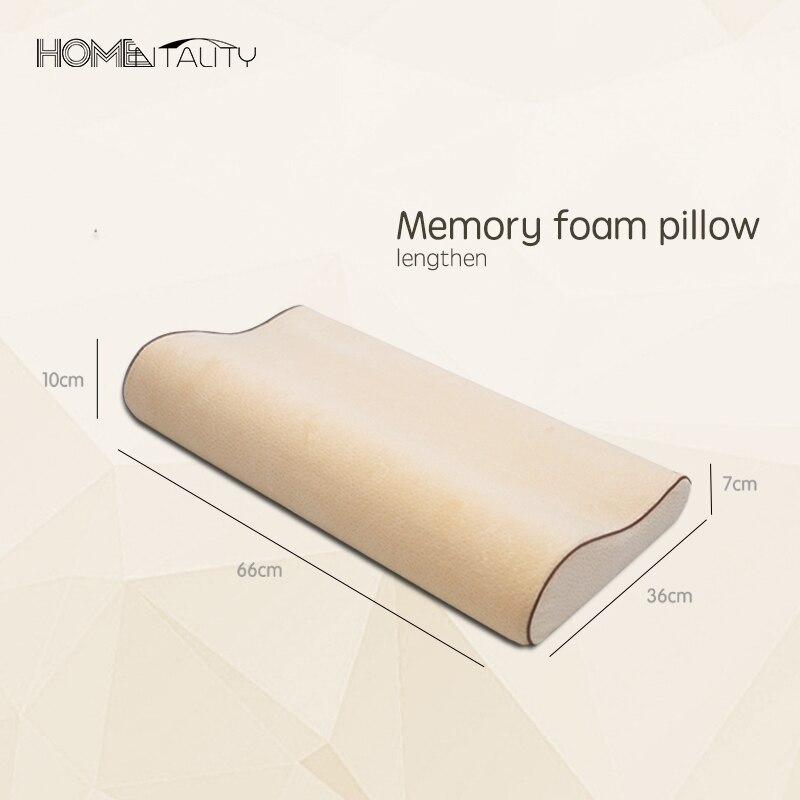 Aliexpresscom Buy 6636 Long Memory Foam Pillow Curve Therapy