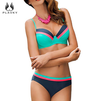 2016 Sexy Female Patchwork Thong Micro Bikini Brazilian Swim Beach Wear Bathing Suit Swimsuit Swimwear Women