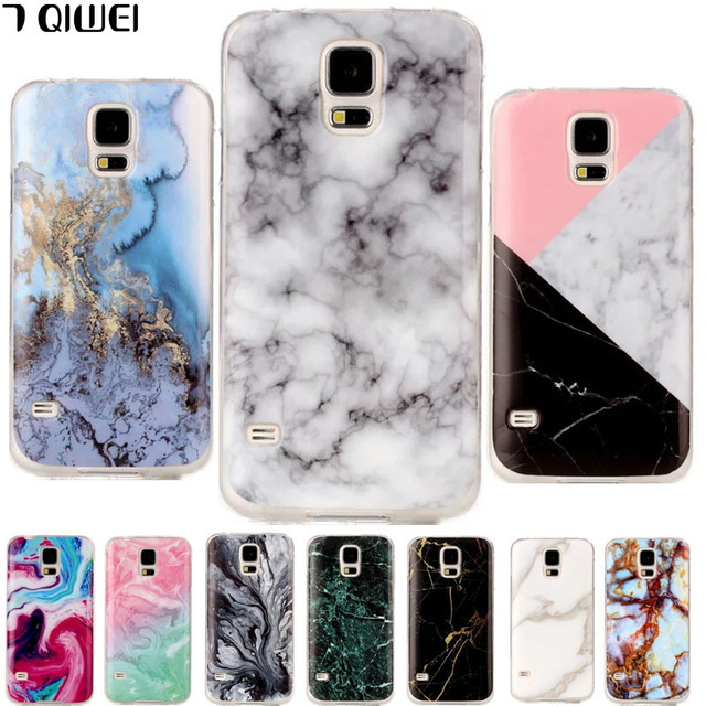 for samsung s5 neo case silicone granite marble skin back cover for